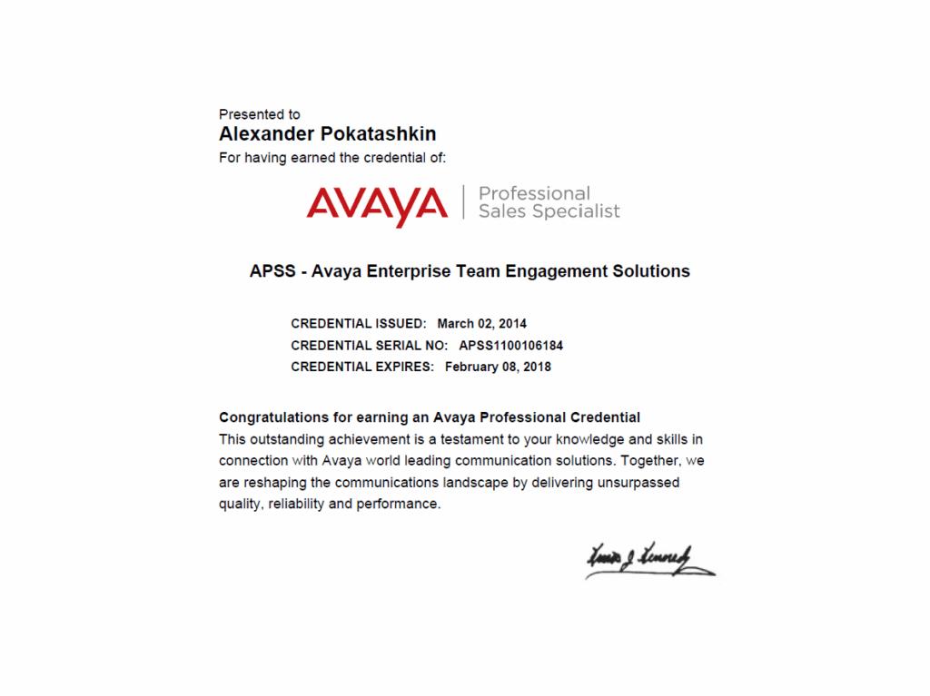 Avaya APSS-1100