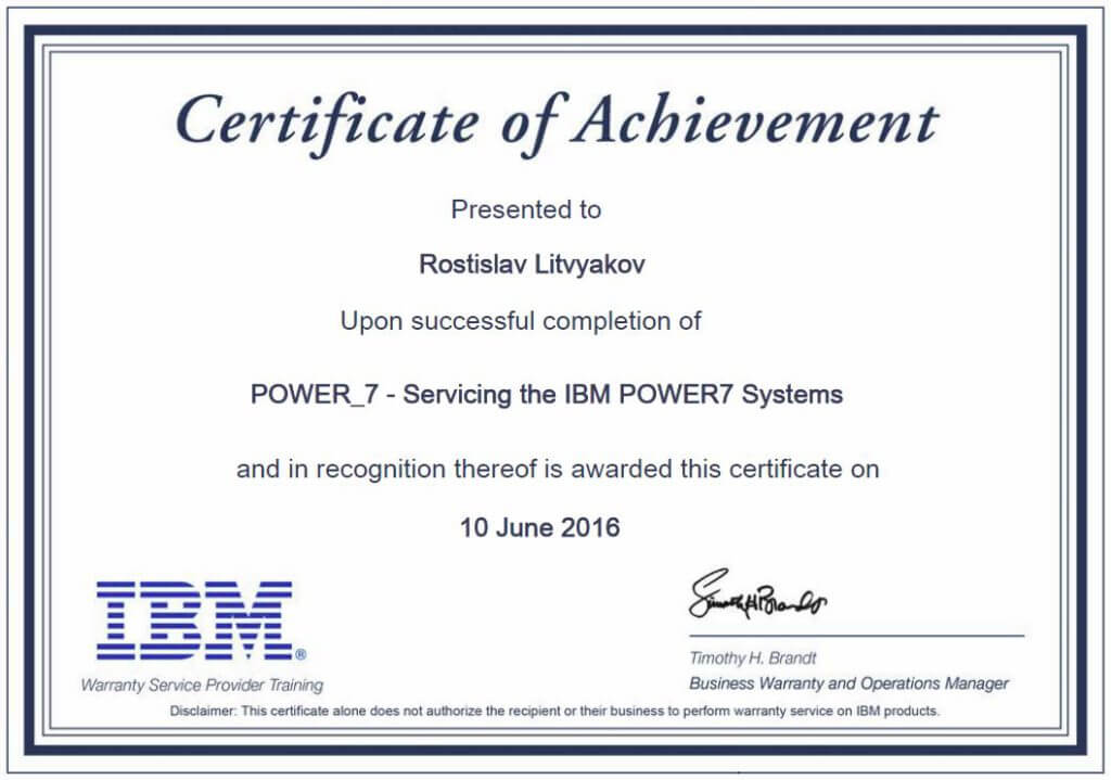 IBM Servicing POWER7 Systems