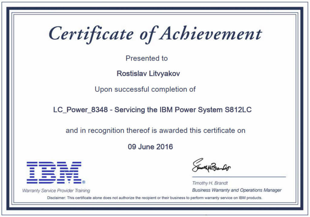 Servicing IBM Power System S812LC