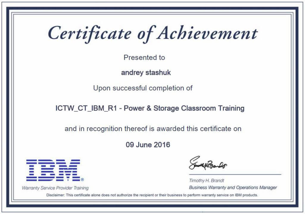 IBM Power & Storage Classroom Training