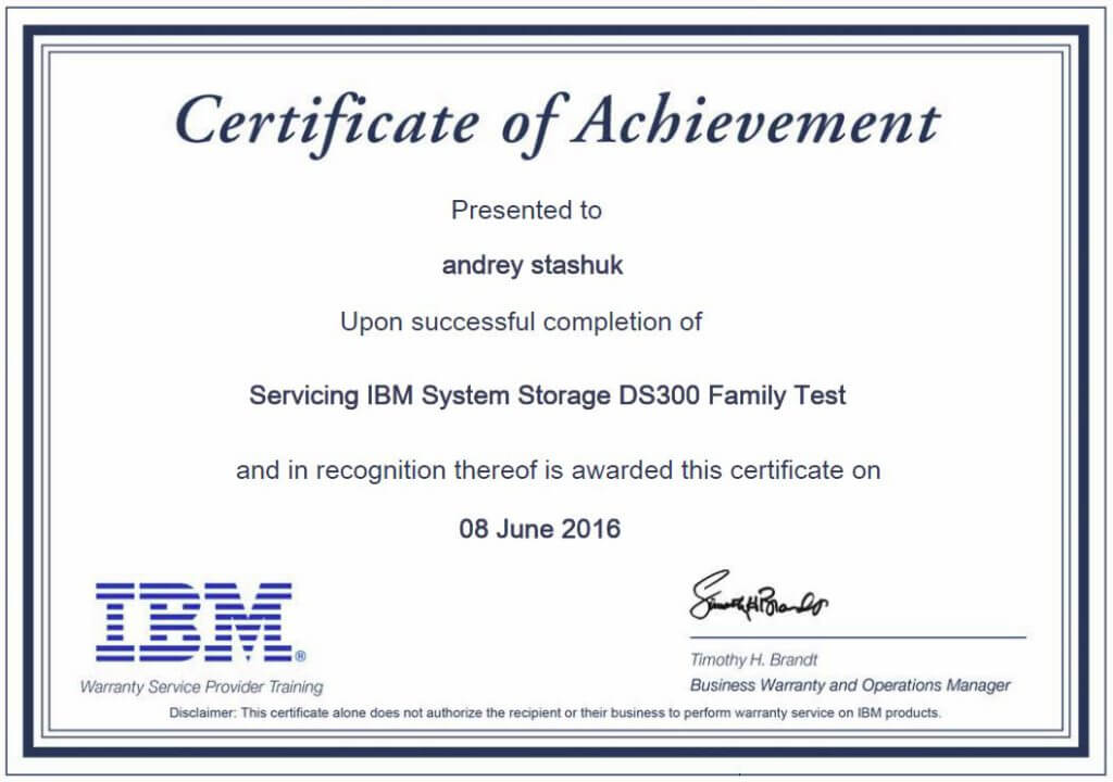 IBM Servicing System Storage DS3000