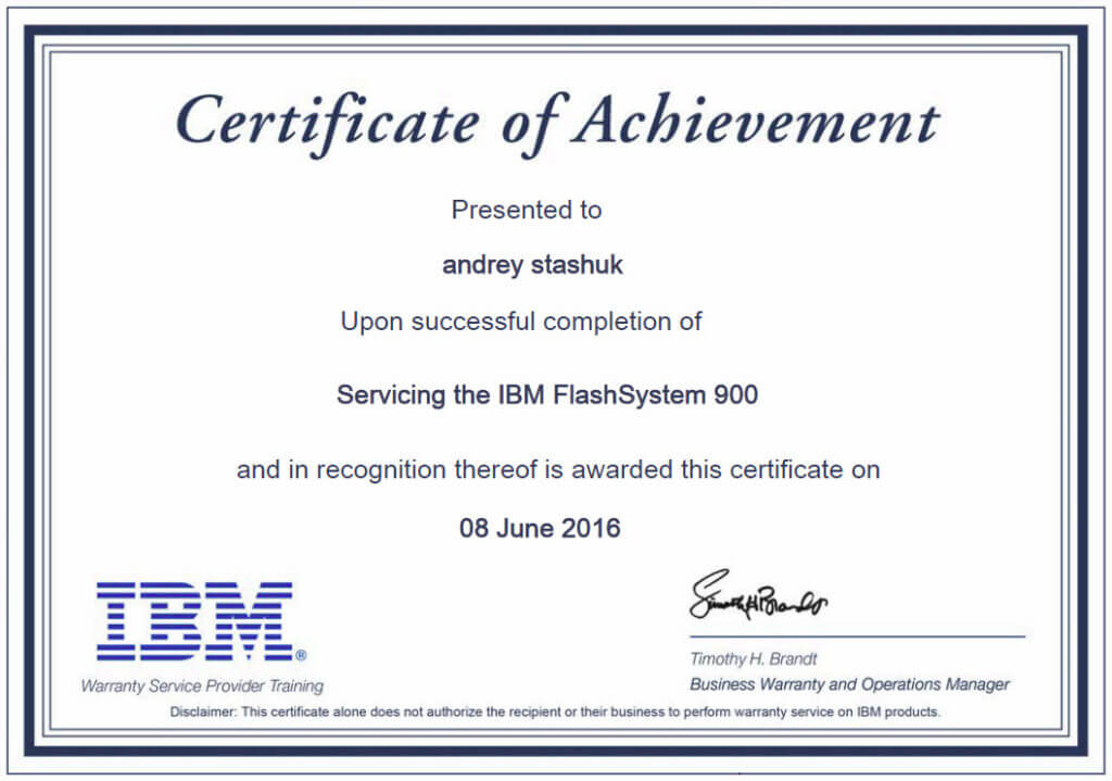 IBM Servicing FlashSystem 900